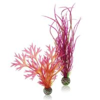 BiOrb Medium Easy Plant Pack of 2 Red Pink Reef One Aquarium Plastic Plant